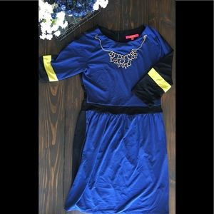 Cobalt 3/4 sleeve dress